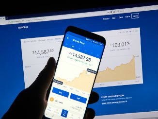 Coinbase app on phone and computer