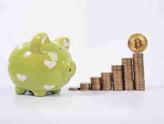Bitcoin stacks and piggy bank